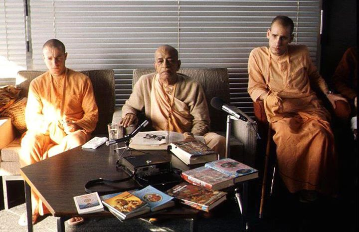 Srila Prabhupada with his original unchanged books